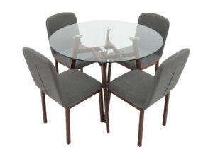 Set masa cu 4 scaune, MBS-26, culoare Maro