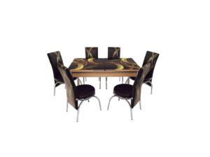 Set masa mercan cu 6 scaune , cercuri