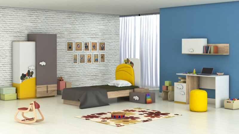 Camera tineret Flora cu raft