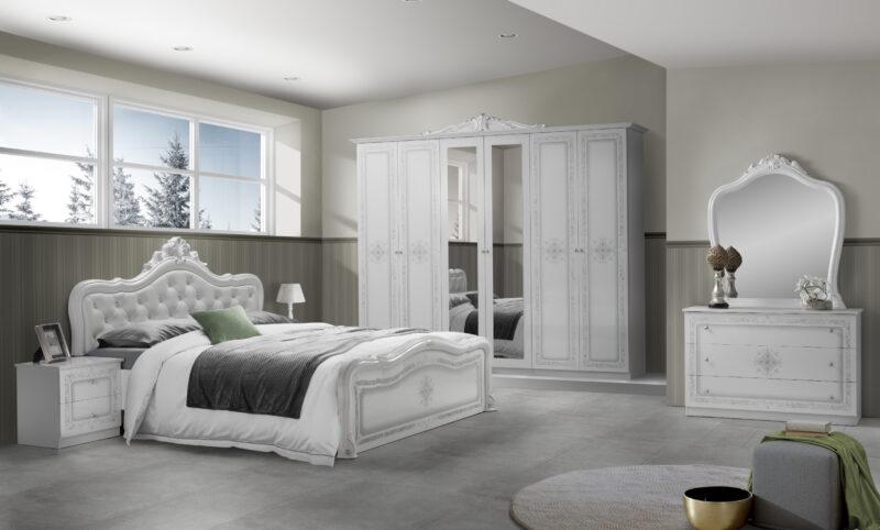 Dormitor Luisa, Alb, din PAL
