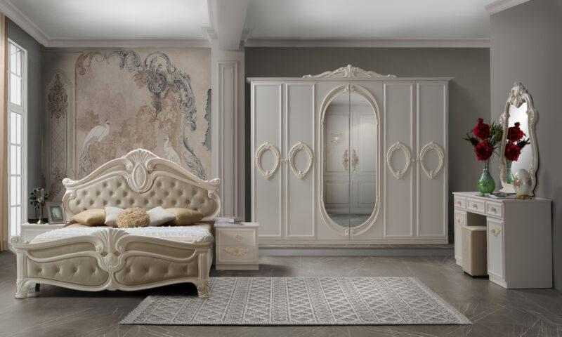 Dormitor Neli, din PAL melaminat cu grosime de 16 mm