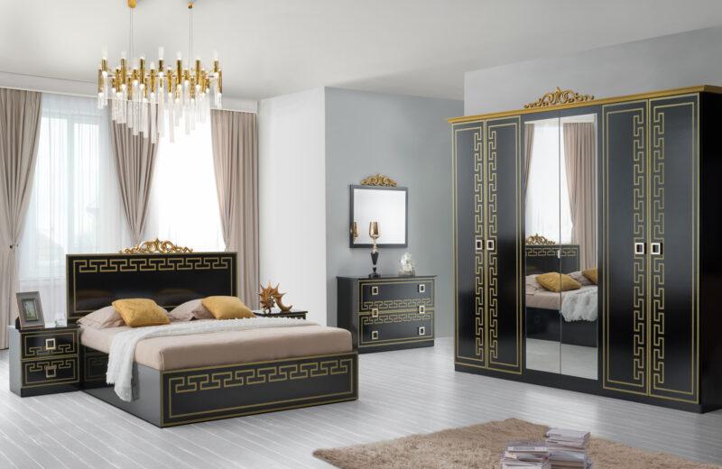 Dormitor Olimp Nero, din PAL