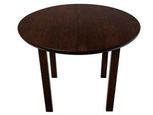 Masa living Poli1 O, orzech, extensibila 100/130 cm, lemn masiv de fag/pal