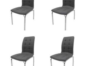 Set 4 scaune bucătărie S-02, culoare gri