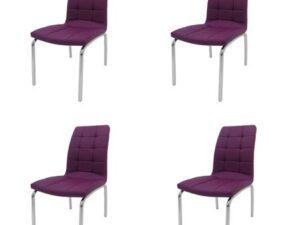 Set 4 scaune bucătărie S-02, culoare lila