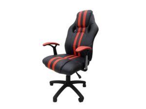 Scaun birou S-112, roșu + negru